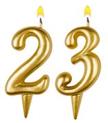 Birthday candles number twenty three - stock photo