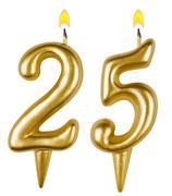 Birthday candles number twenty five isolated - stock photo