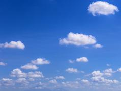 Stock Photo of Blue Sky with Clouds.