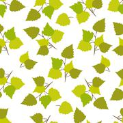 Birch leaves - stock illustration