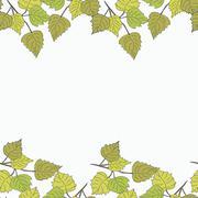 Birch leaves - stock illustration
