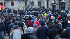 Meeting euromaidan Kharkiv Stock Footage