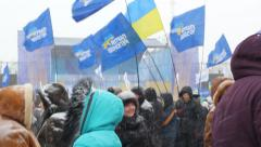 Stock Video Footage of Rally Party of Regions in Kharkov