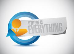 attitude is everything cycle sign concept - stock illustration