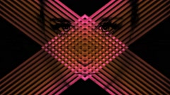 Vj Loops Art Neon Laser Woman Face Animated Visual Sample Background Stock Footage