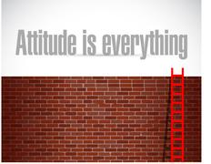 Attitude is everything sign concept Stock Illustration