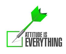 Attitude is everything approve check sign concept Stock Illustration
