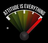 Attitude is everything marker sign concept Stock Illustration