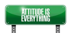 attitude is everything road sign concept - stock illustration
