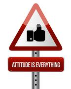 attitude is everything like road sign concept - stock illustration