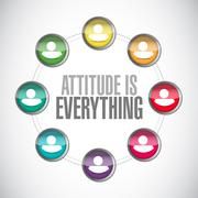 attitude is everything connections sign concept - stock illustration