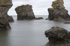 Stock Photo of Sea Stack by Ocean in Gotland, Sweden
