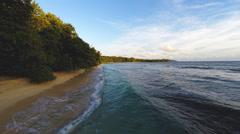 Coastline aerial tropical waves - stock footage
