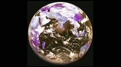 3D  Vj Loop Earth Visual Background Stock Footage