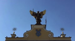 A monument to Archangel Michael. Stock Footage
