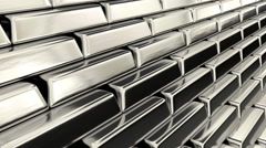 Animated stock of fine bars of silver 2 1080p Stock Footage