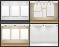 Frame on Wall for Your Text and Images, Vector Illustration Stock Illustration