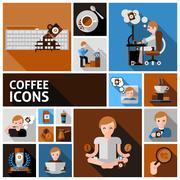 Coffee Icons Set Stock Illustration