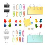 Stock Illustration of Paper Clip And Pin Set
