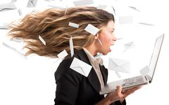 Wind of email Stock Photos