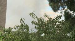 School Fire Smoke Rises (Tilt) Stock Footage