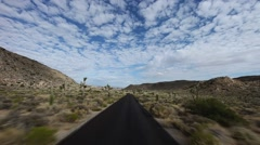 Timelapse Driving in Joshua Tree National Park Arkistovideo