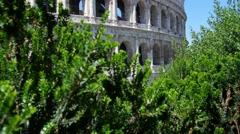 Roman colosseum  flavian amphitheater crane shot 4k Stock Footage