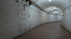 Corridors on the old Soviet base repair submarines during the Cold War. Stock Footage