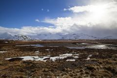 Volcanic landscape on the Snaefellsnes peninsula in Iceland Stock Photos