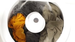 Doing the Laundry Stock Footage