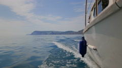 A boat trip along the coast of the Black Sea. Stock Footage