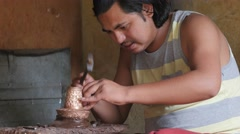 Handicraft maker,Rewalsar,Himachal Pradesh,India Stock Footage