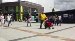 4k Bury town centre shoppers timelapse Stock Footage