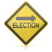 Road Sign - Election Ahead Stock Illustration