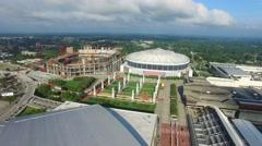 Downtown Atlanta Georgia aerial video 3 Stock Footage