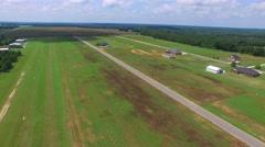 Aerial video Georgia farmland 2 Stock Footage