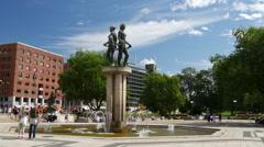 Rådhusplassen square in Oslo Norway Stock Footage