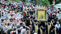 Stock Video Footage of 1000th celebration anniversary of the repose of St. Vladimir in Kiev, Ukraine.
