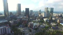 Downtown Atlanta Georgia aerial video 7 Stock Footage