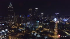 Aerial night video Atlanta Georgia 4 - stock footage