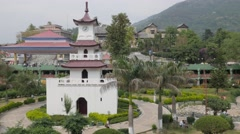 Clocktower and gardens,Mandi,Himachal Pradesh,India Stock Footage