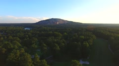 Stock Video Footage of Aerial video Stone Mountain Georgia