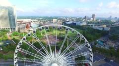 Downtown Atlanta Georgia aerial video 8 Stock Footage
