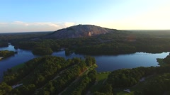 Aerial video Stone Mountain Georgia 2 - stock footage