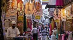 Market street,Mandi,Himachal Pradesh,India Stock Footage