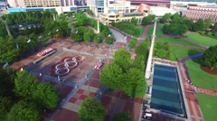 Downtown Atlanta Georgia Centennial Park Stock Footage