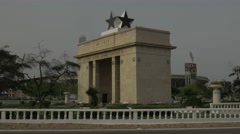 Ghana Accra  Independence Arch 4K - stock footage