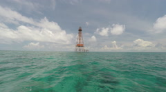 Coral Reef Lighthouse Stock Footage