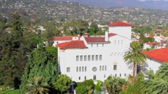 Santa Barbara, view from the Courthouse, California, USA Stock Footage