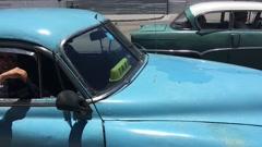 Old Cars in Havana Vieja, Cuba Stock Footage